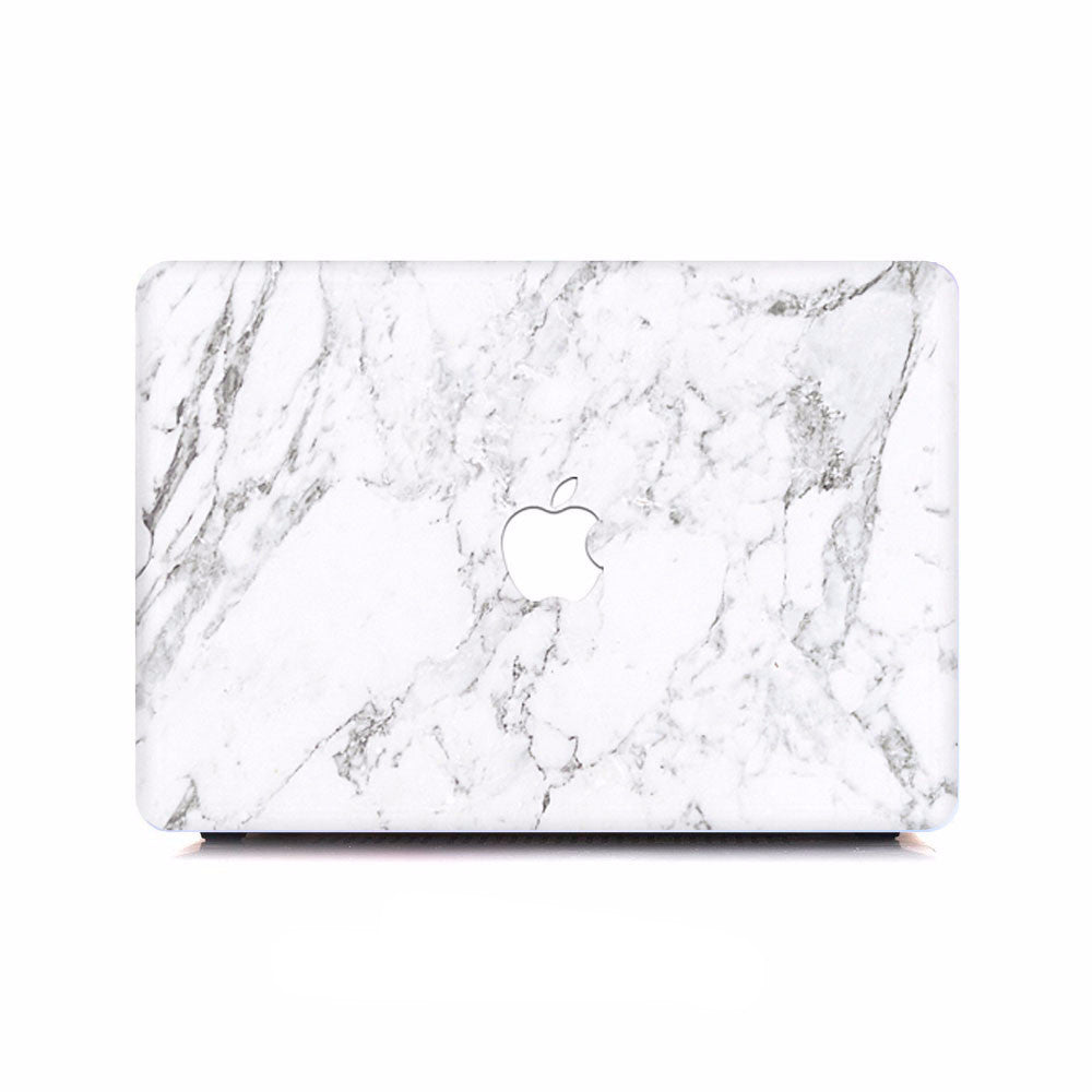Macbook Decal -  White Marble - colourbanana