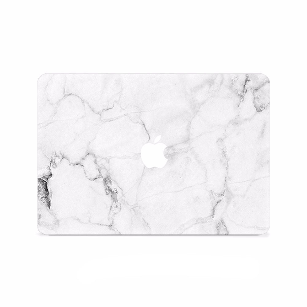 Macbook Decal -  Classic White Marble - colourbanana