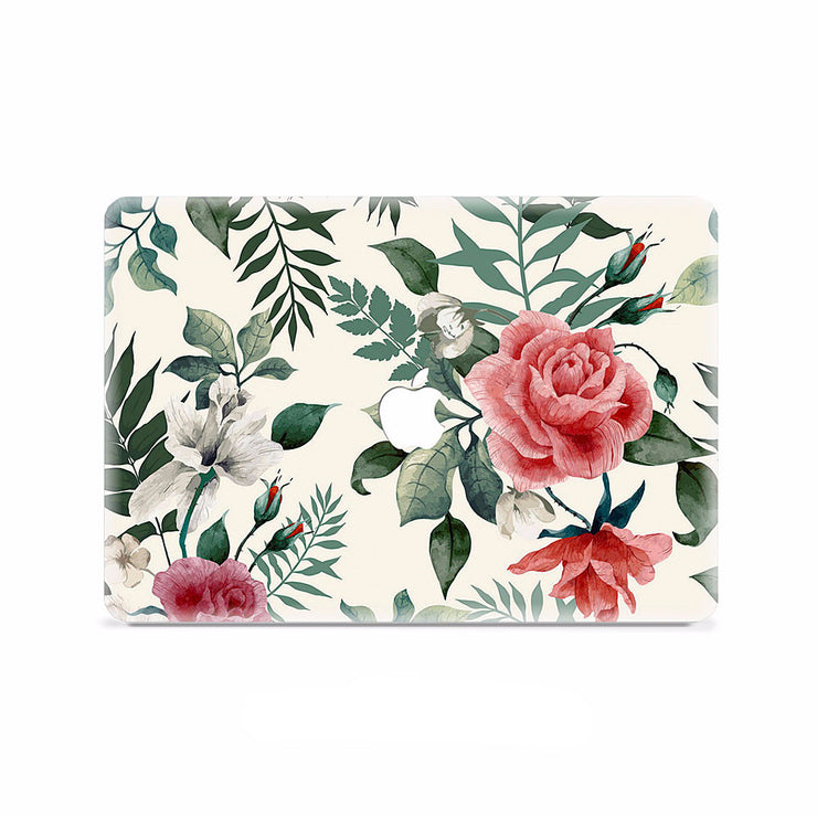 Macbook Decal -  Vintage Roses - colourbanana