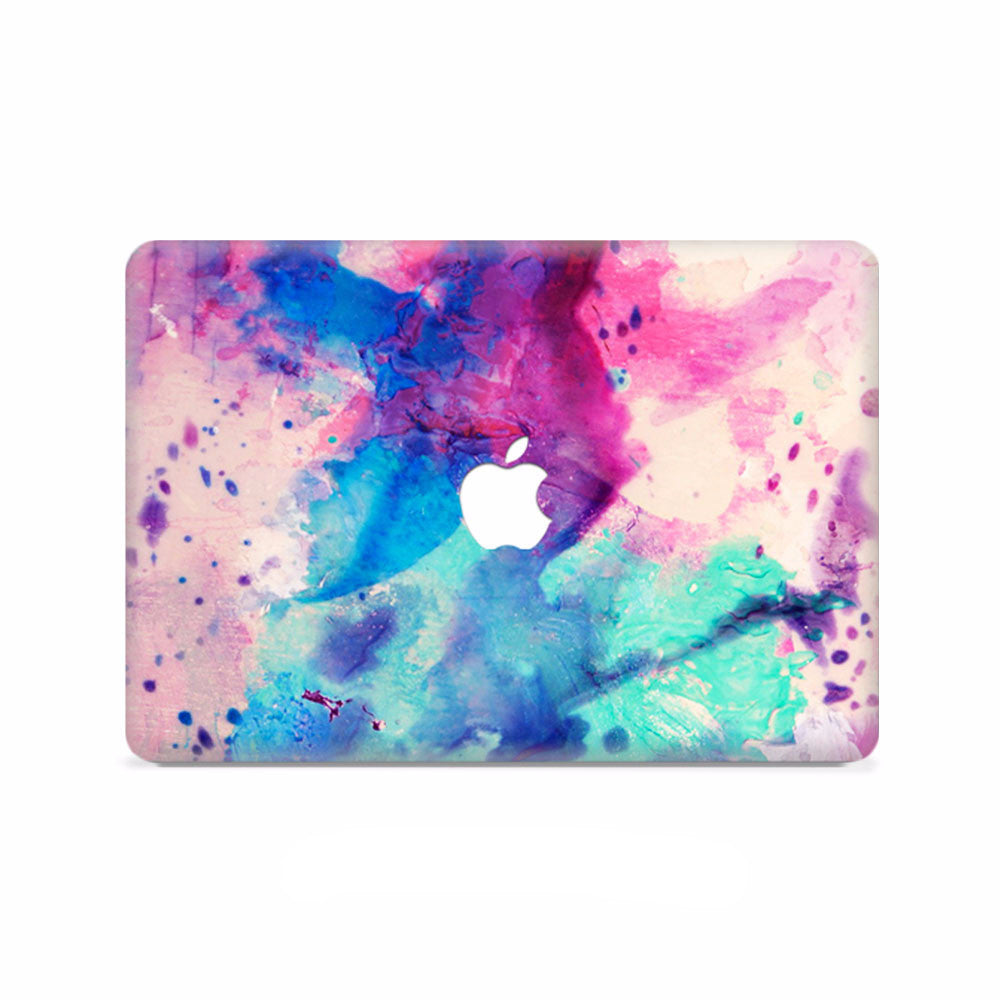 Macbook Decal - Purple Abstract Painting - colourbanana