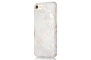 iPhone Case - White & Rose Metallic Brushed MarbleiPhone Case - White & Rose Metallic Brushed Marble