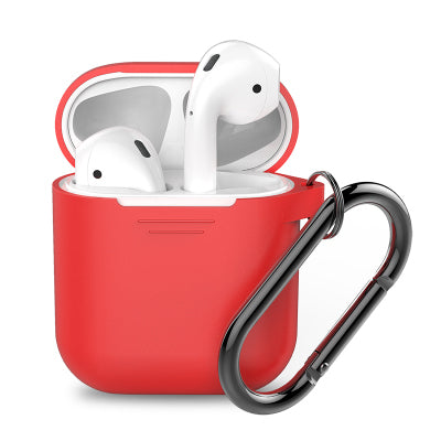 AhaStyle Full Protective Cover Keychain Silicone Case for Apple AirPods