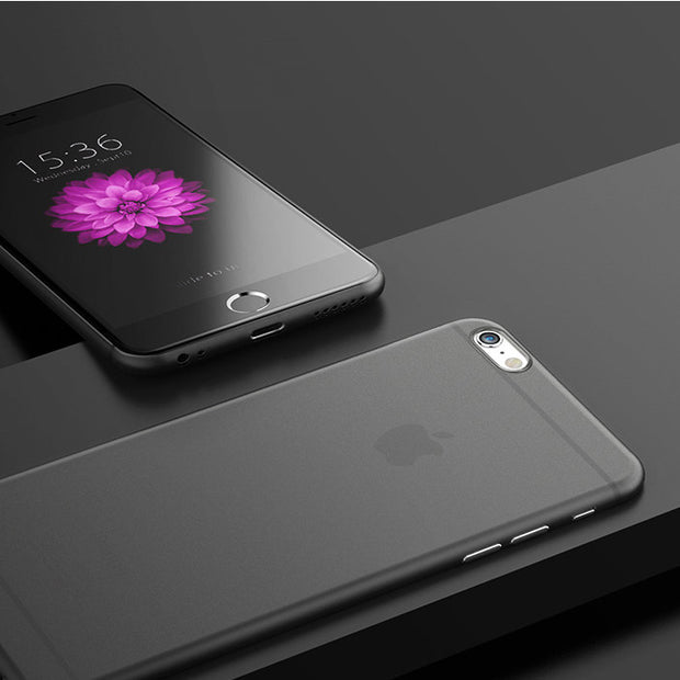 Premium Ultra Thinnest Light Slim iPhone Case - Black - colourbanana