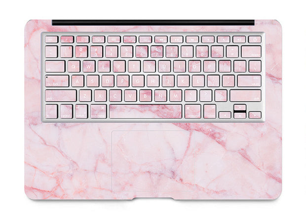 Macbook Decal -  Pink Marble - colourbanana