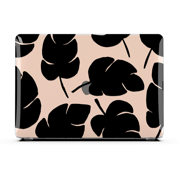 Macbook Case - Black Tropical Jungle Leaves Air 13 M1 2020