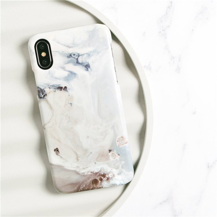 iPhone Case -  White Dream Marble