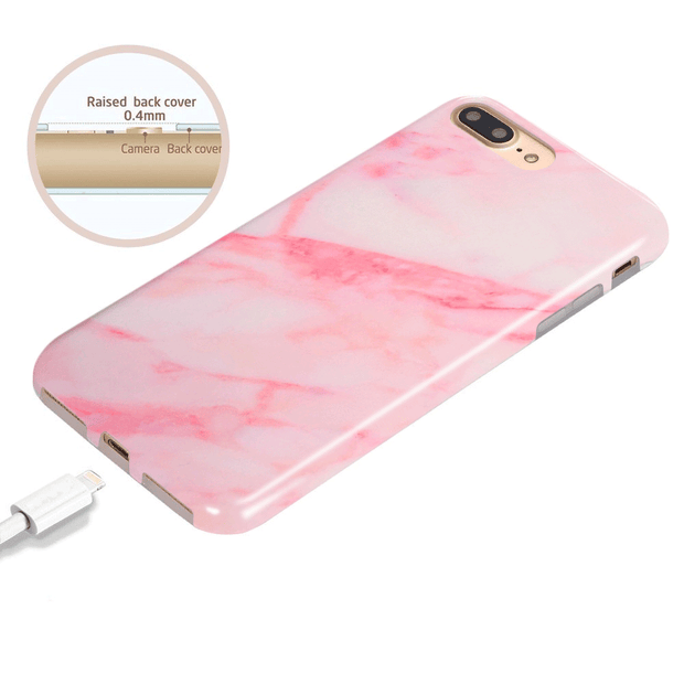 iPhone Case - Pink Split Marble - colourbanana
