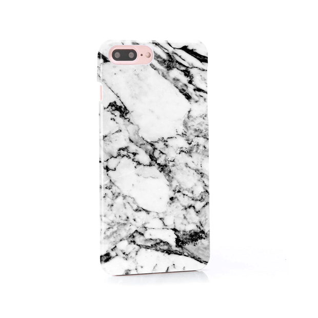 iPhone Case - Elegant Black and White Marble - colourbanana