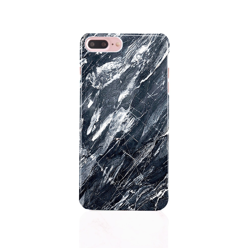 iPhone Case - Earth Black Marble - colourbanana