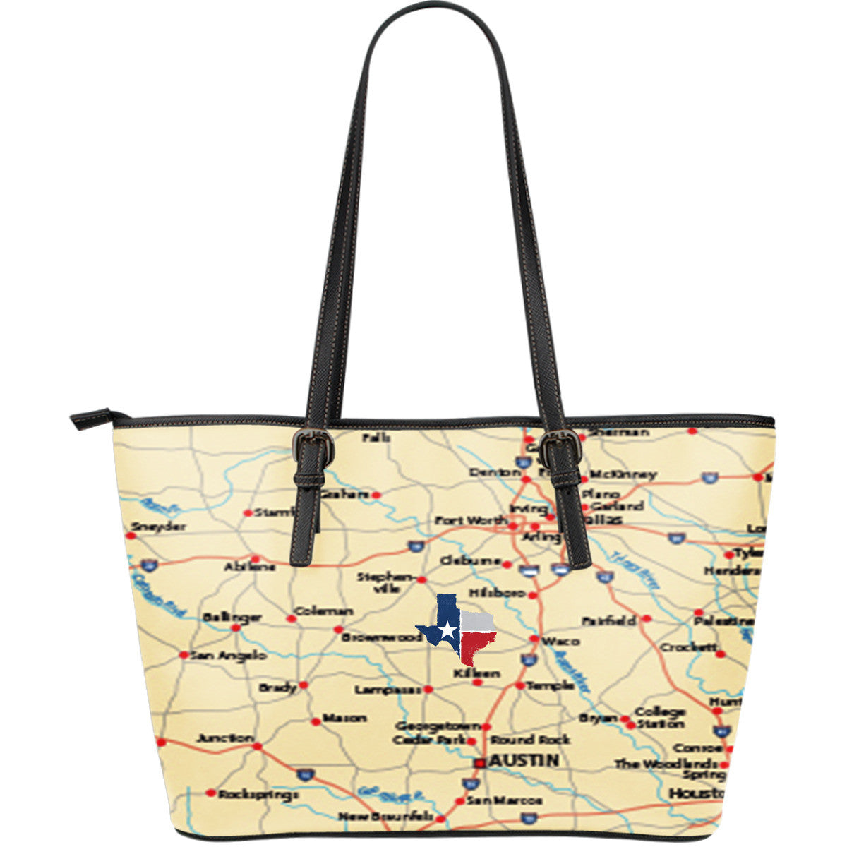 Texas (TX) Premium Leather Tote