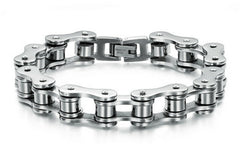 Stainless Steel Bracelet Men Biker, Bicycle, Motorcycle Chain. Men's Bracelets Mens Bracelets & Bangles Fashion Jewelry