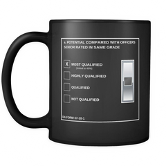 "WO1 ""Top Block"" 11oz All Black Mug (DA 67-10-1)"