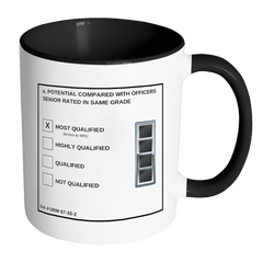 "CW4 ""Top Block"" Accent Mug (DA 67-10-2)"