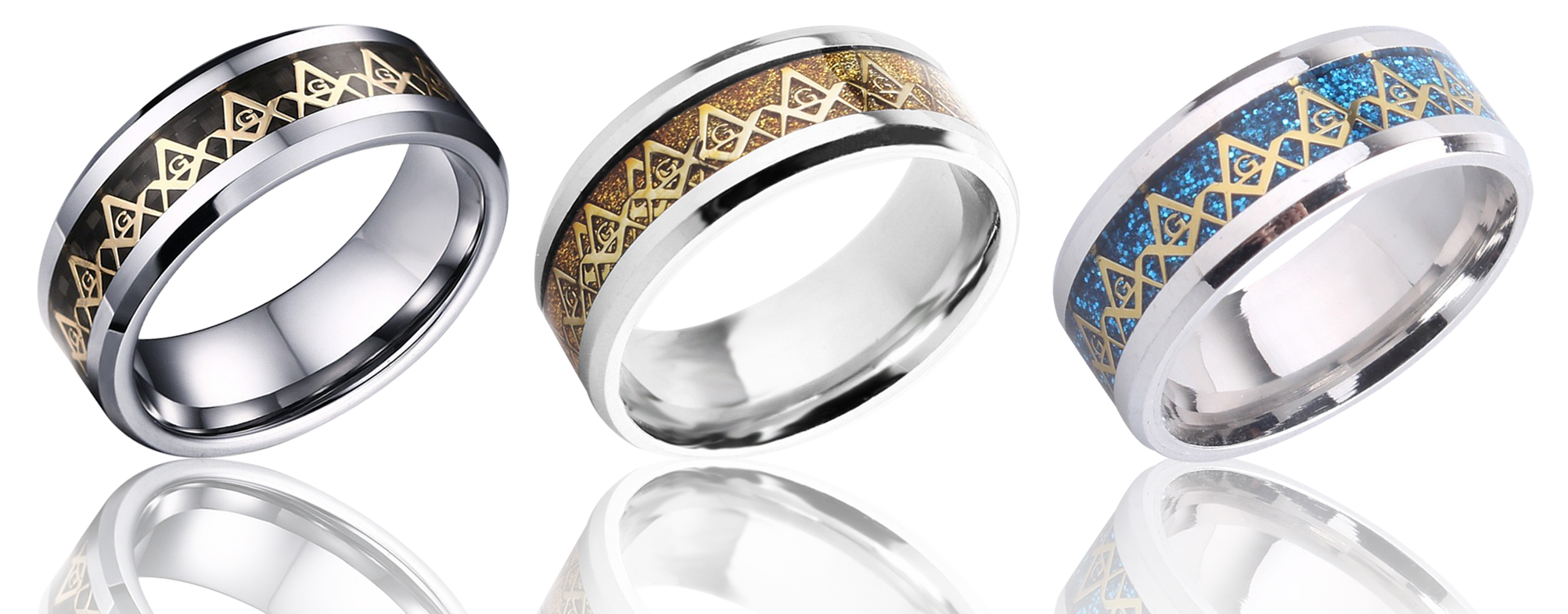 Masonic Rings For Men and Women! [Gold, Blue, Black]
