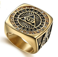 All-Seeing Eye Masonic Ring (ASE000)