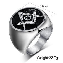 Domineering Vintage Freemason Ring Size 7-15 (BIR0000)