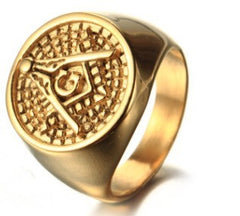 Trendy & Stylish 18K Gold Freemason Ring (GRV0000)