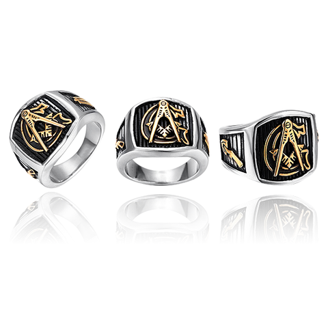 Masonic G  Ring - Titanium Steel Ring (JRX0000)