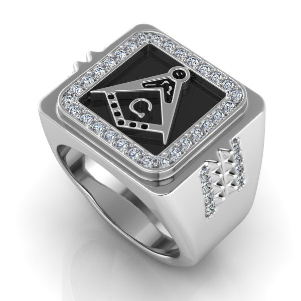 Stylish & New Masonic Biker Ring (MDX0000)