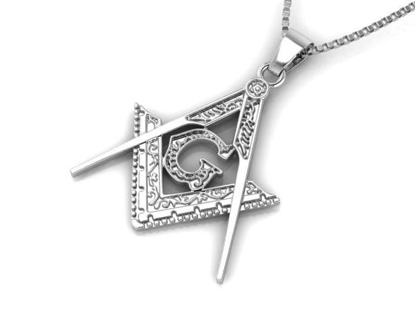 Masonic Pendant Necklace & 24'' Miami Cuban Chain (MGP000)