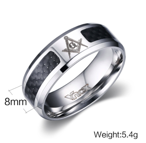Masonic Band Ring (Blue & Black) (BLU0000/ BLK0000