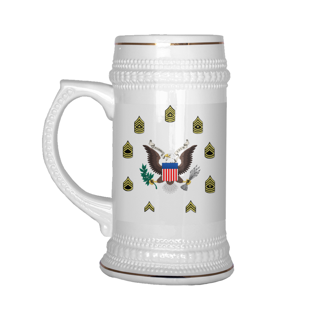 "SGT ""Top Block"" 22oz Beer Mug (DA 2166-9-1)"