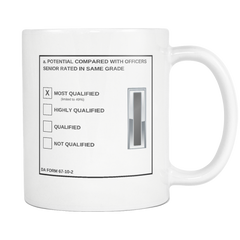 "CW5 ""Top Block"" 11oz All White Mug (DA 67-10-2)"