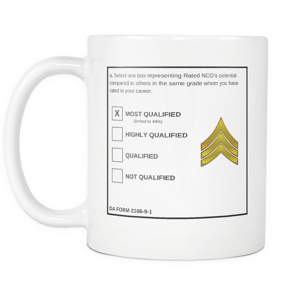 "SGT ""Top Block"" All White Mug (DA 2166-9-1)"