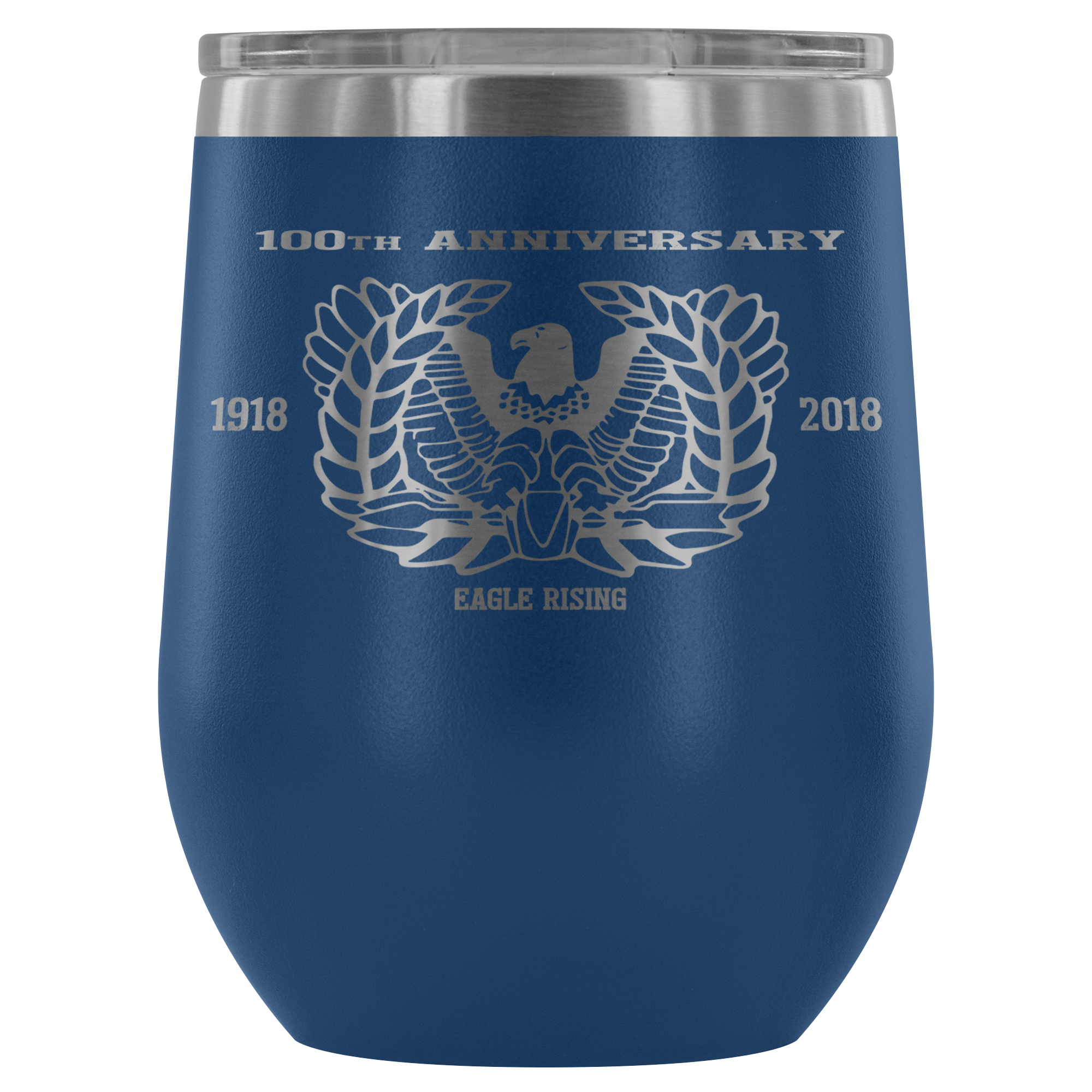 12oz. Stemless Wine Tumblers (100th Anniversary- Eagle Rising)