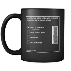 "CW4 ""Top Block"" 11oz All Black Mug (DA 67-10-2)"