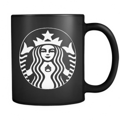 SSG - All Black 11oz Starbucks Mug