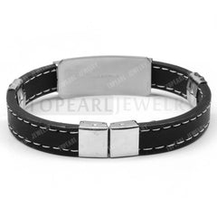 Black Stainless Steel Masonic Bracelet (SSM000)