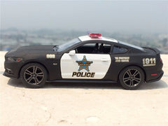 2006 Mustang GT Police Alloy Diecast Model Car Pull Back Vehicle