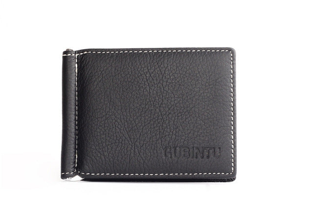 100% Genuine Leather Men Wallet - Luxury Famous Brand