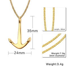 Anchor Necklace Pendant for Women - Free 24inch Chain