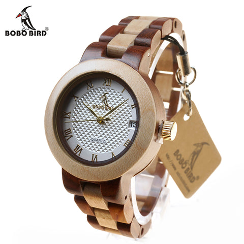 Newest Brand Designer Wooden Watch for Women - Quartz Watches in Gift Box