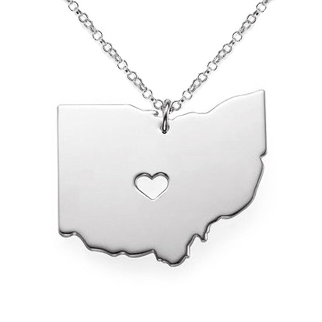 Ohio Map State Charm