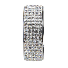 5 Rows Crystal Stainless Steel Ring - For Elegant Full Finger