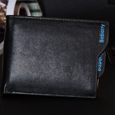 Classic Men's Wallet - SolId Pattern Designer Wallet