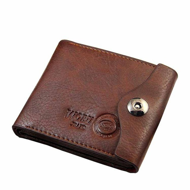 Men's Leather Hasp Wallet - High Quality Trifold