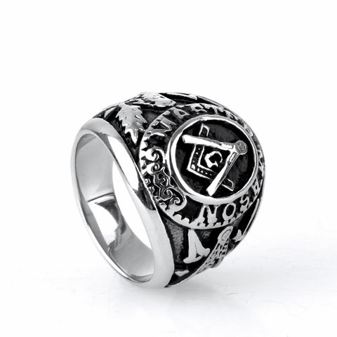 Freemason Men's Silver Ring (VRK0000)
