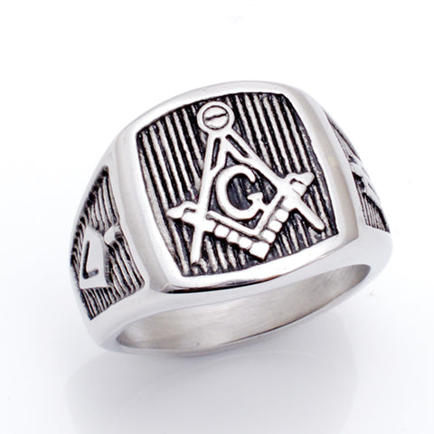 Casting Titanium Steel Masonic Ring (EQS0000)