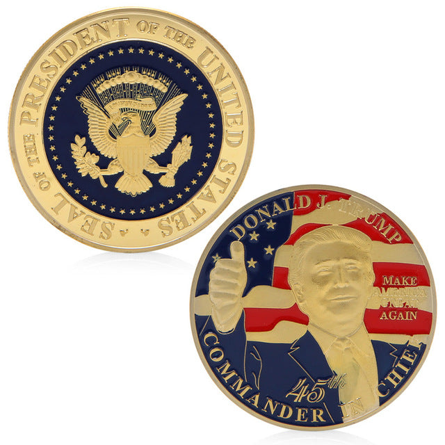 Donald Trump Commemorative Coin - 45th President The United States
