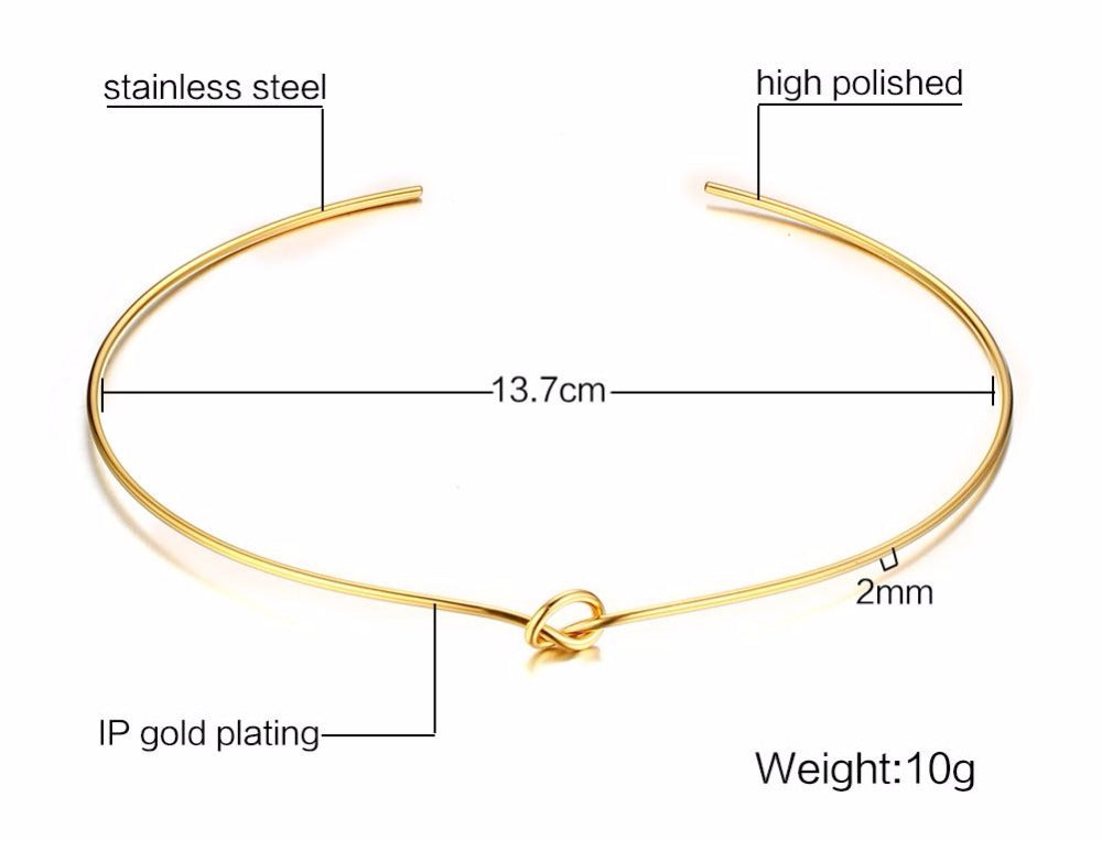 Trendy Knot Choker Necklace for Women