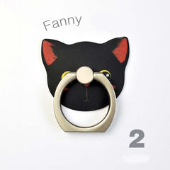 Cute Cat Stand Creative Finger Ring Smartphone Stand Holder - Universal