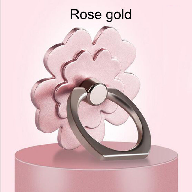 Flower Finger Ring Holder & Kickstand - 360 Degree Rotational Universal