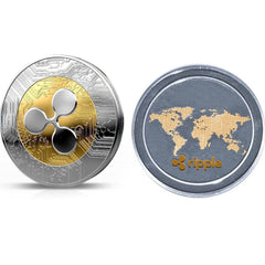 Ripple Coin Commemorative - Round Ripple Crypto Currency Plated Coin