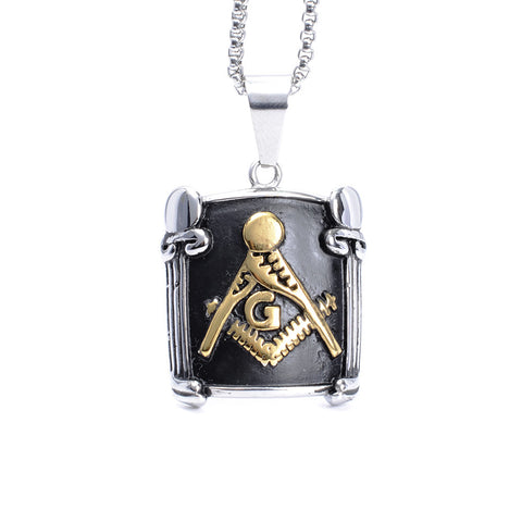 Freemason 316L Stainless Steel Masonic Pendant (QYW0000)