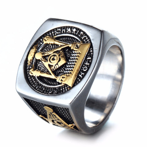 European Style Vintage Masonic Ring (AKG0000)