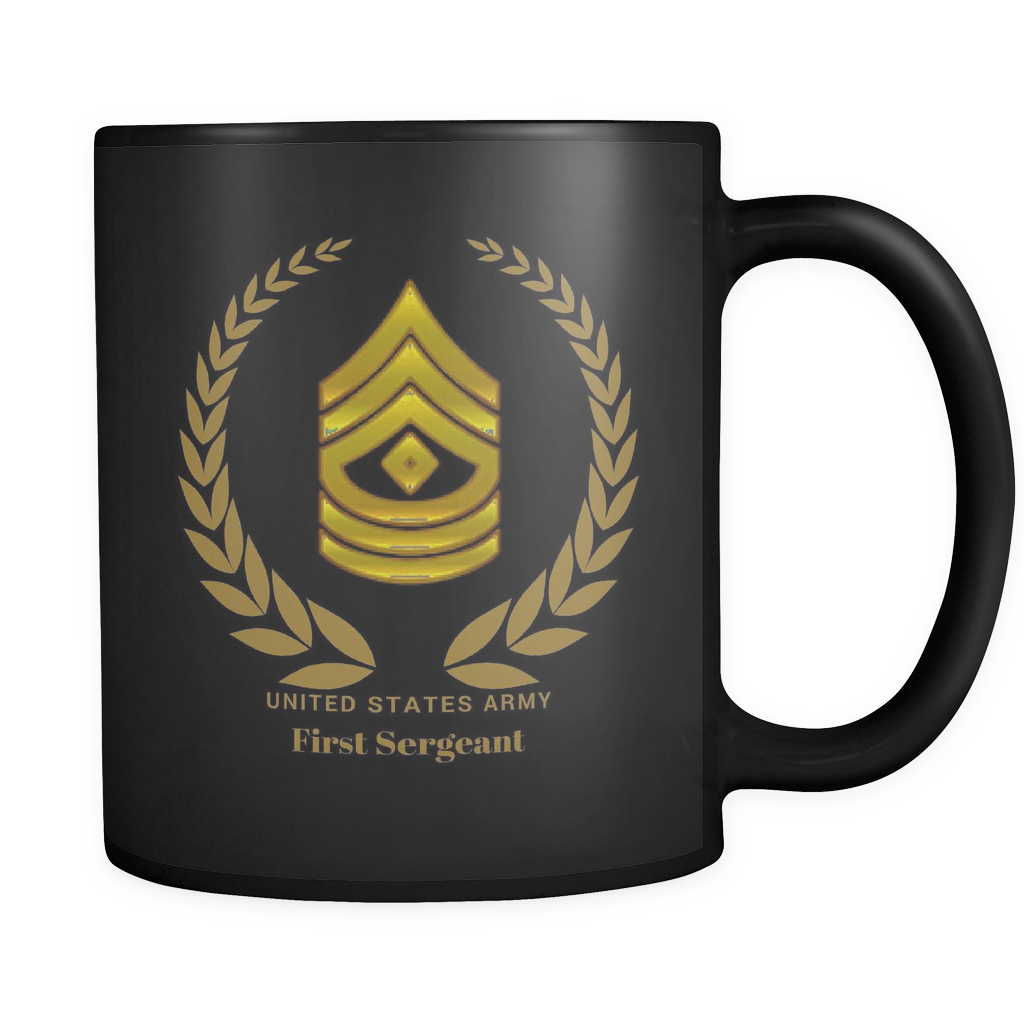 1SG - All Black 11oz Mug